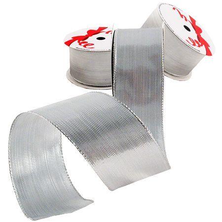 Лента плътно сребро 38мм.- цена на едро