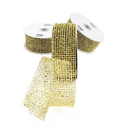 Панделка мрежа злато - цена на едро