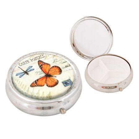 Кутия за хапчета пеперуда