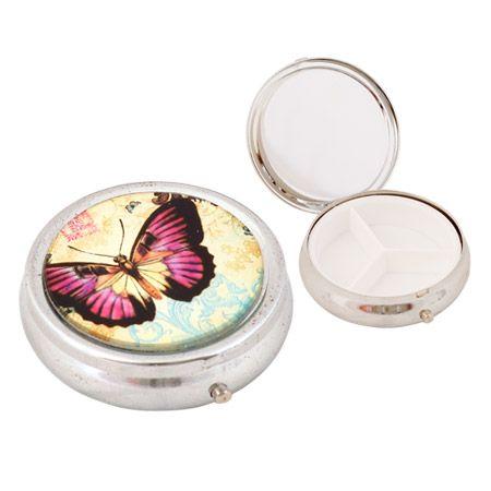 Кутия за хапчета с пеперуда