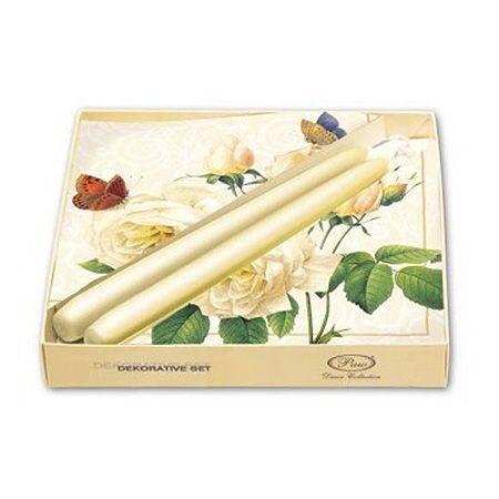 Декоративен сет бели рози