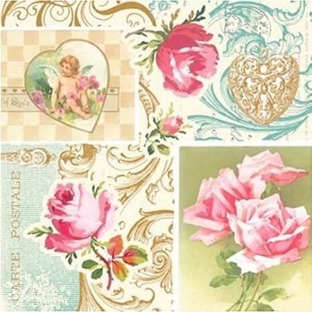 Салфетки рози на любовта