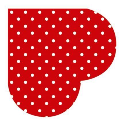 Салфетки червени точки