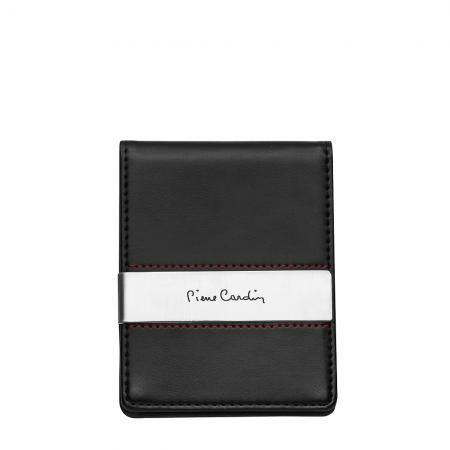 Калъф за документи и карти PIERRE CARDIN черен с метална щипка за пари