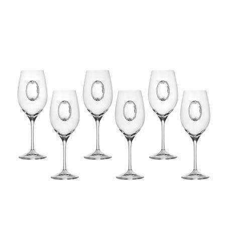 Invino 6 чаши за вино, сребърна плочка