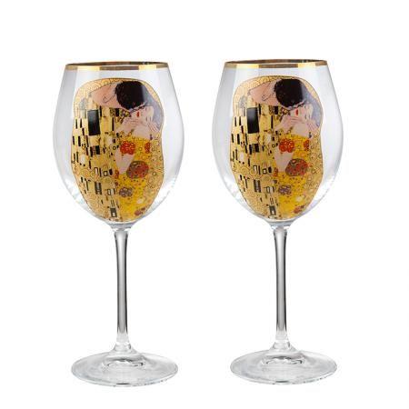 The Kiss  чаши за червено вино