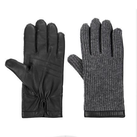 Мъжки сиви ръкавици Silver Flame
