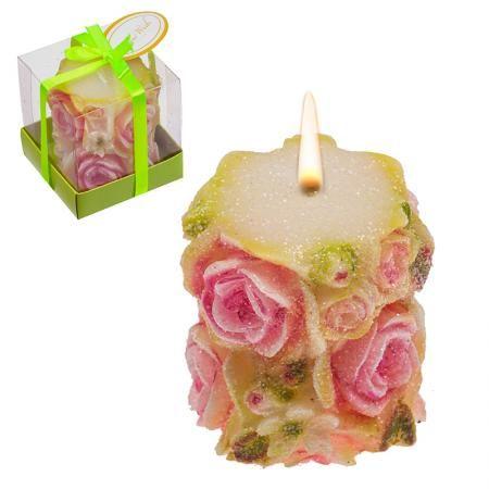 Свещ роза стълб