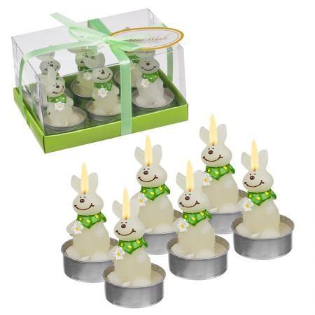 Свещ зайчета 6 бр. в кутия