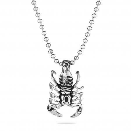 Мъжки медальон  SILVER FLAME скорпион