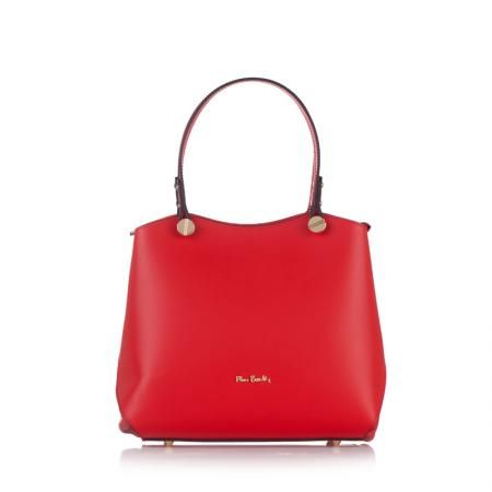 Дамска червена чанта Ruga Classic - PIERRE CARDIN
