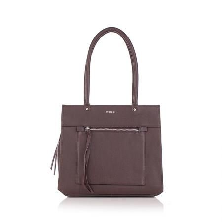 Дамска чанта шоколадова кафява - ROSSI
