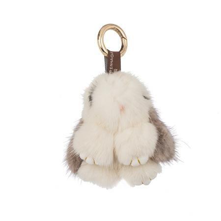 Ключодържател бял и сиво зайче - ROSSI