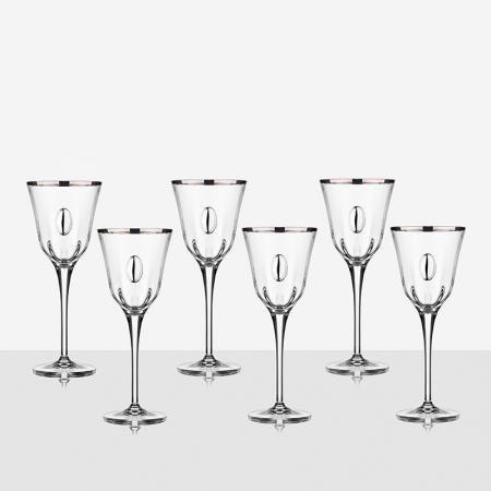 Чаши за вино с плочка 6 бр. Julia