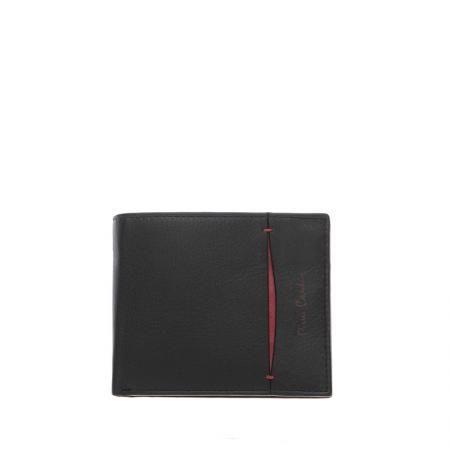 Мъжки стилен портфейл с  червена черта - малко PIERRE CARDIN