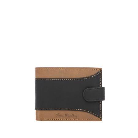 Мъжки спортен портфейл кафяво и черно -  малък PIERRE CARDIN