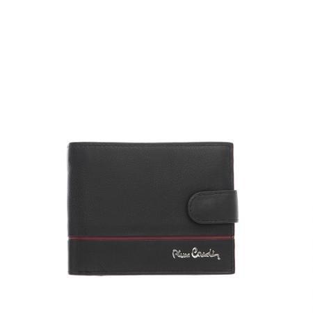 Мъжки портфейл с хоризонтална червена черта  със закопчалка PIERRE CARDIN