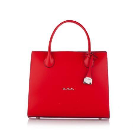 Стилна дамска чанта в наситено червено - VARIABLE PIERRE CARDIN