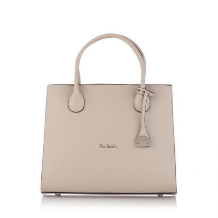 Стилна дамска чанта в цвят слонова кост - VARIABLE PIERRE CARDIN