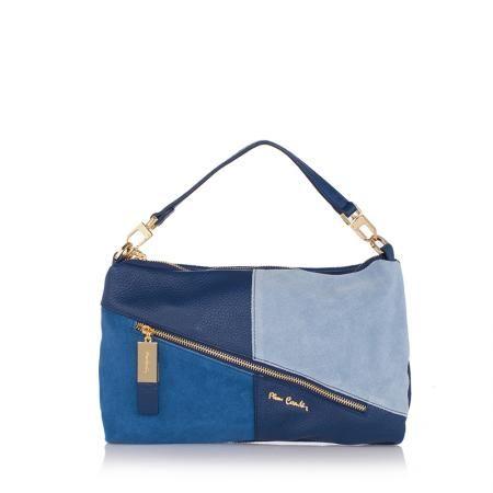 Дамска синя чанта   - Perla
