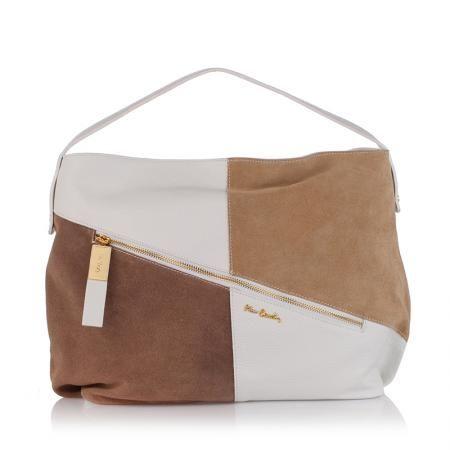 Дамска бялa чанта от естествена кожа - Perla