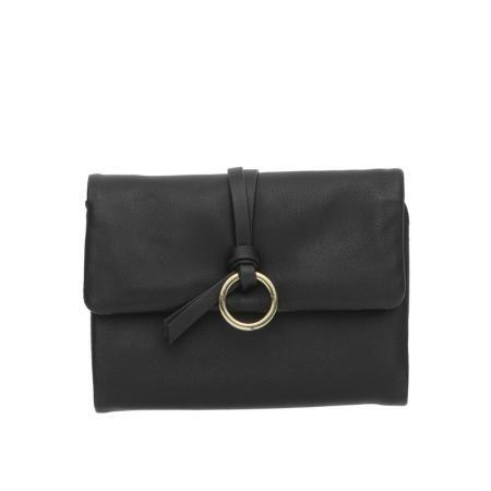 Дамско малко портмоне в черно - ROSSI