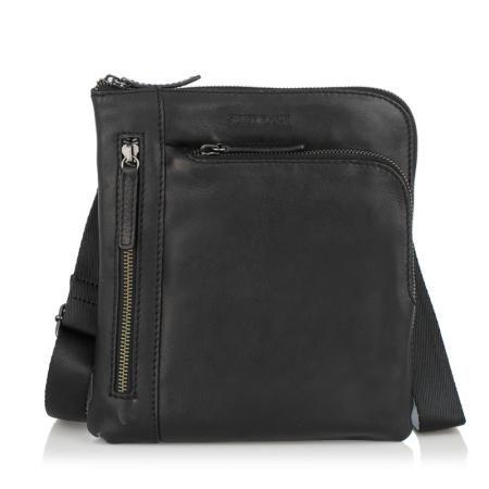 Мъжка черна чанта OILY DIANA - SILVER FLAME