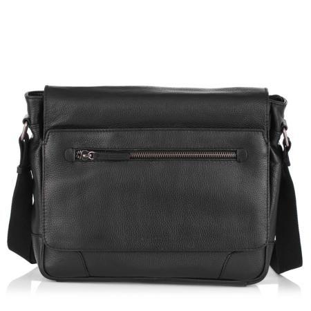 Мъжка черна чанта с цип ANDY - SILVER FLAME