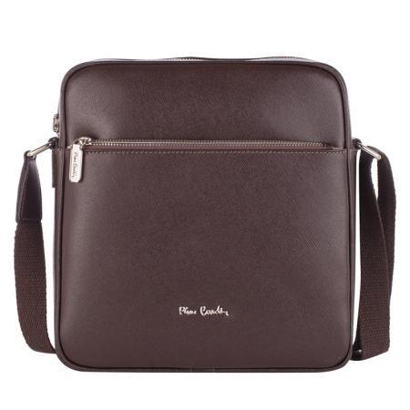 Мъжка спортна чанта, тъмно кафява - PIERRE CARDIN