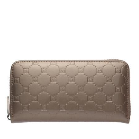 Дамско златисто портмоне с щампа гланц  - PIERRE CARDIN
