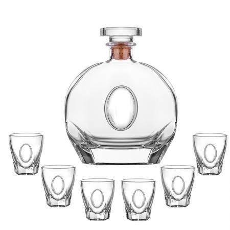 Сет бутилка + 6 чаши за ракия Puccini