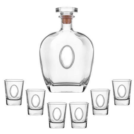 Сет бутилка + 6 чаши за ракия Botticelli