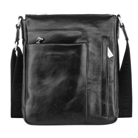 Стилна мъжка чанта в черно - CHIARUGI