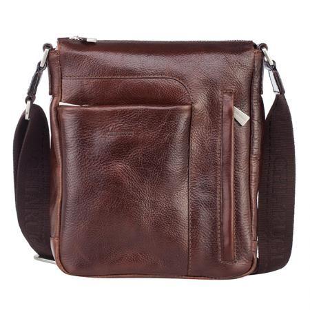 Стилна мъжка чанта в кафяво - CHIARUGI