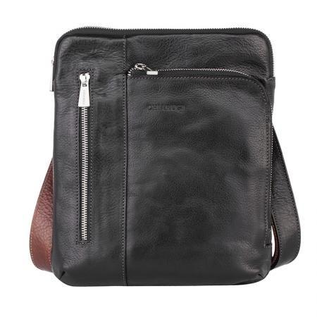 Елегантна мъжка черна чанта - CHIARUGI
