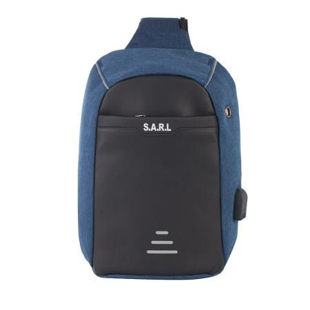 Смарт чанта през рамо синя - SWISSDIGITAL