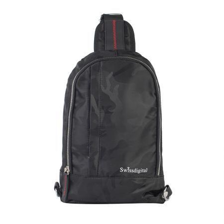 Малка смарт чанта през рамо черна - SWISSDIGITAL