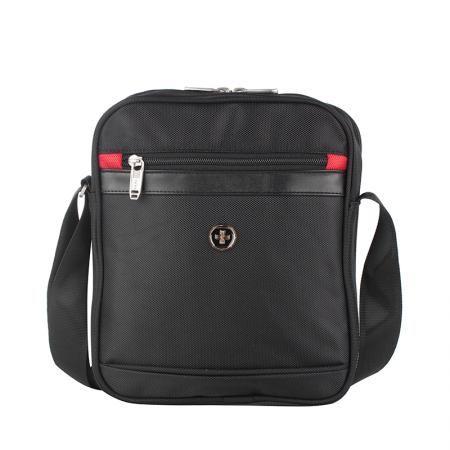 Черна чанта смарт през рамо - SWISSDIGITAL