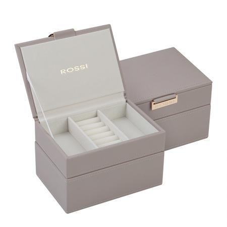 Кутия за бижута цвят сив - ROSSI