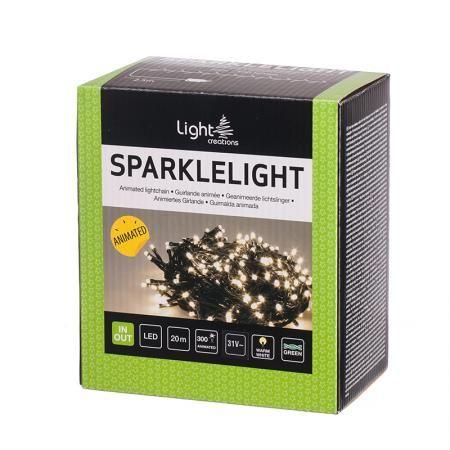 Коледно осветление, 20 м., 300 бр. мигащи LED лампички