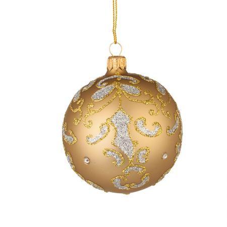Стъклена златна топка