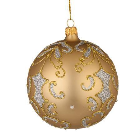 Стъклена златна топка - голяма