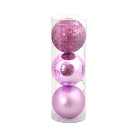 Коледна топка лилава 10 см.