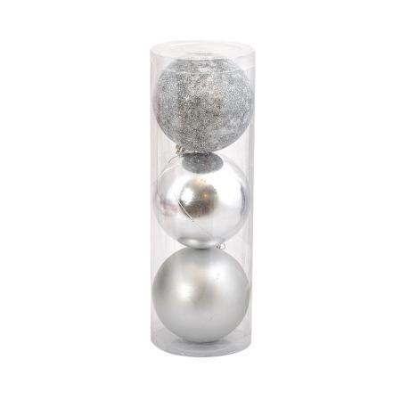 Коледна топка сребърна 10 см.