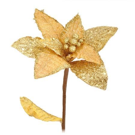 Коледна звезда злато