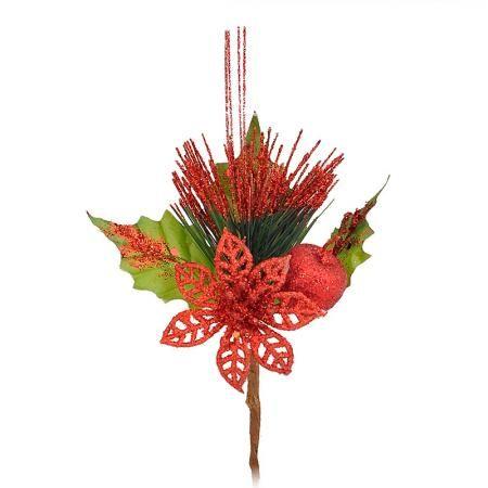 Коледна декорация червена
