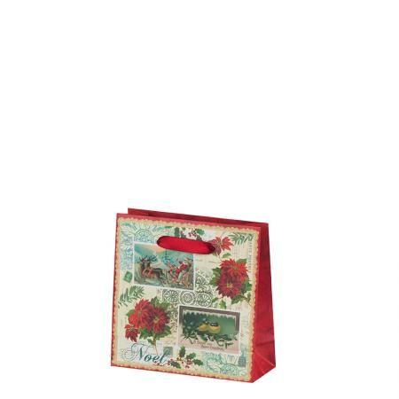 Коледна звезда харт.торба пакет 10бр.