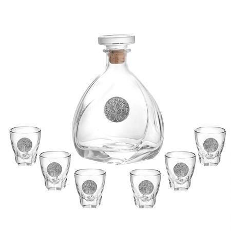 Сет от бутилка + 6 чаши за ракия