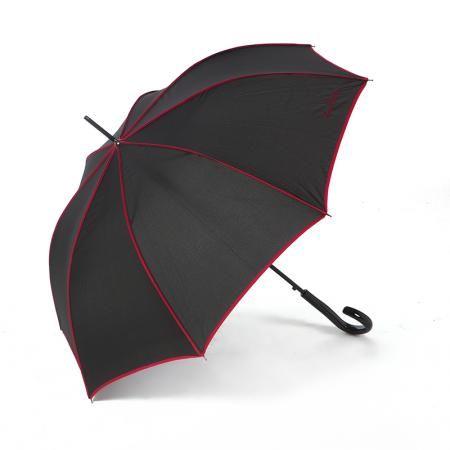 Чадър Singnature черно с червено - PIERRE CARDIN