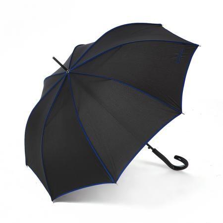 Чадър Singnature черно със синьо - PIERRE CARDIN